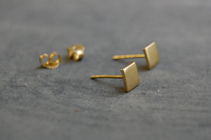 square earstuds (925 silver gold-plated)