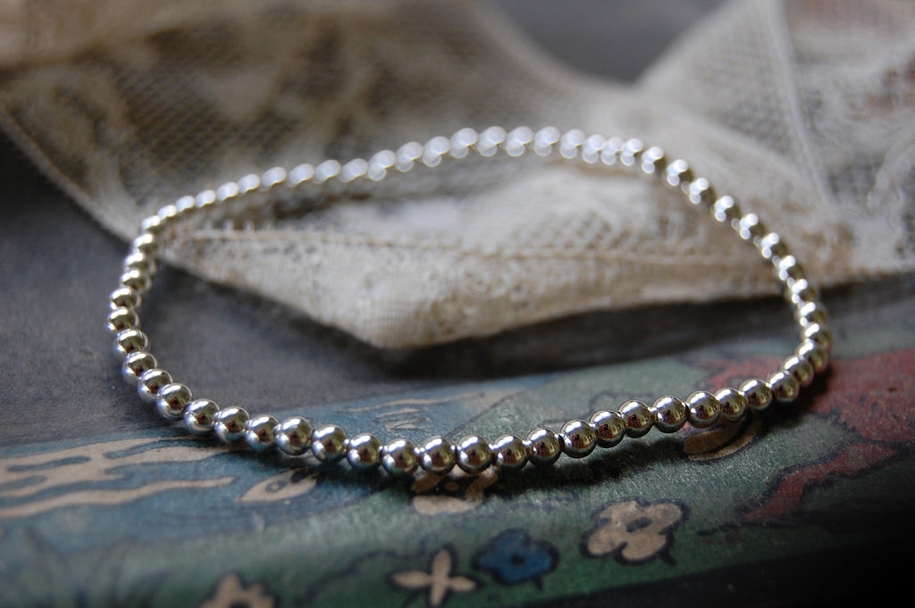 925 silver ball bracelet (thicker)