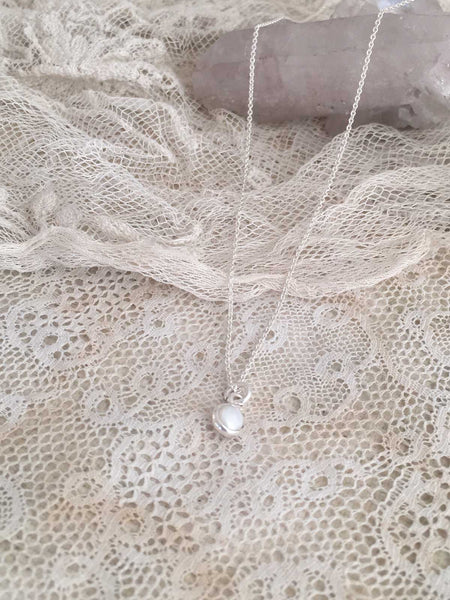 tiny sweet water pearl necklace