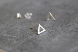 triangle earstuds | 925 silver