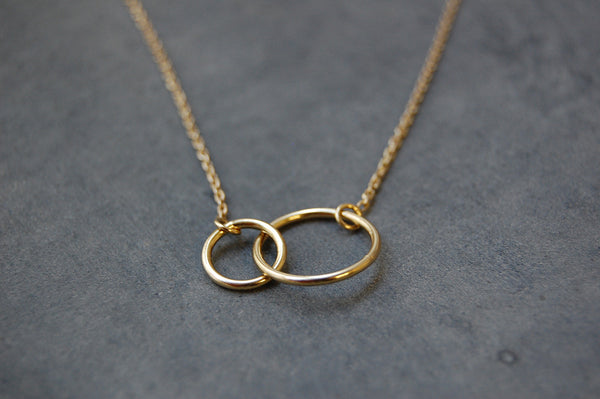 'two rings' necklace | 24k gold-plated