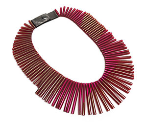 Necklace Rayo fucsia