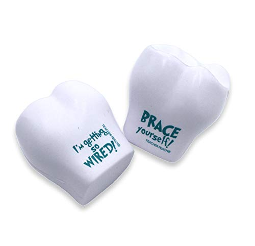 Teacher Peach Dentist & Orthodontist Stress Ball Gift Set