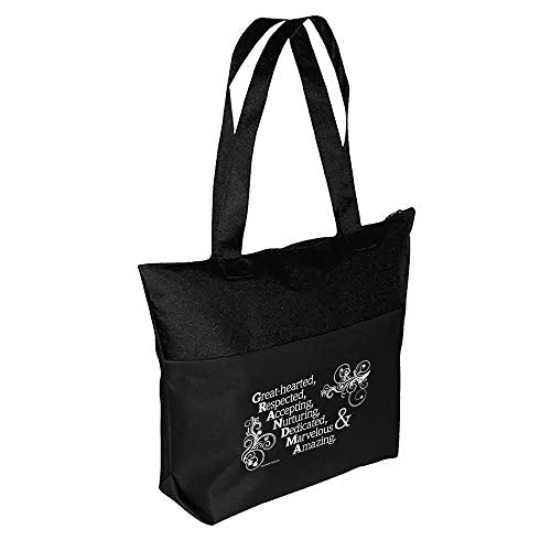 Acrostic Zippered Fabric Tote Bag (Grandma)