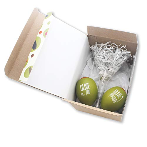 Teacher Peach Stress Relievers Set of Two Olives Better-Than-Drinking Novelty Gift Set (Olive You)