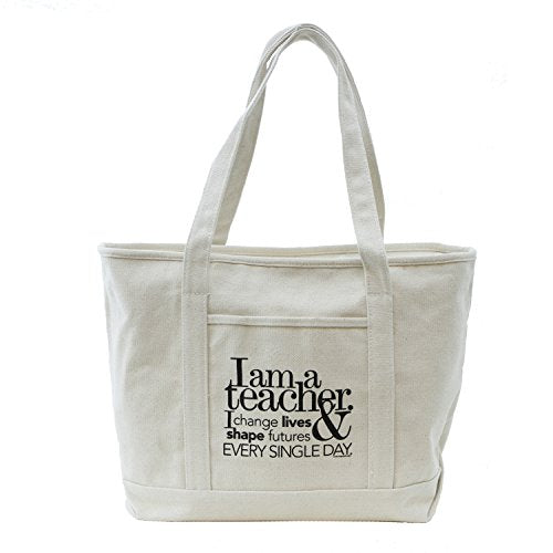 Teacher Gift Jumbo Canvas Boat Teacher's Tote Bag