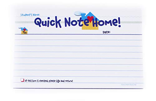 Teacher Peach Quick Notes Home to Parents - Classroom Teaching Supplies for Preschool, Kindergarten, or Elementary School Teachers with Carbon Copy - 50 Tablets
