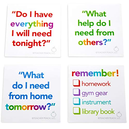 ADHD SEL Sticky Notes Set of 4