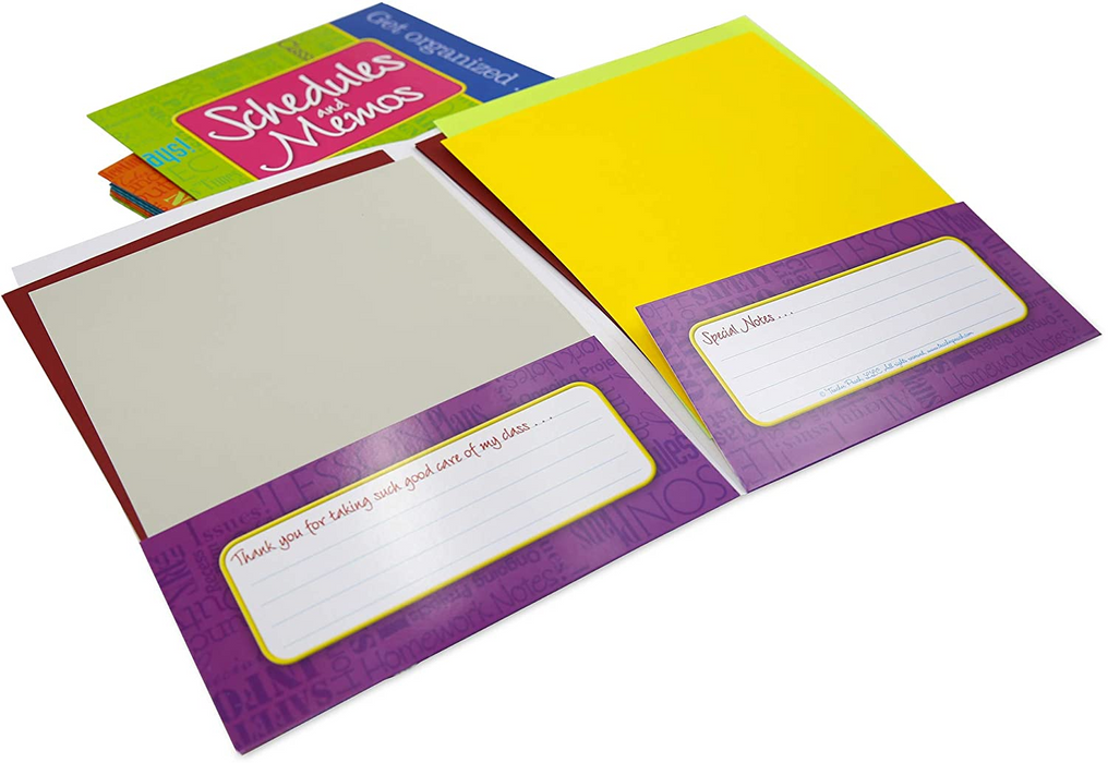 Pocket Folders for Teachers, Set of 11