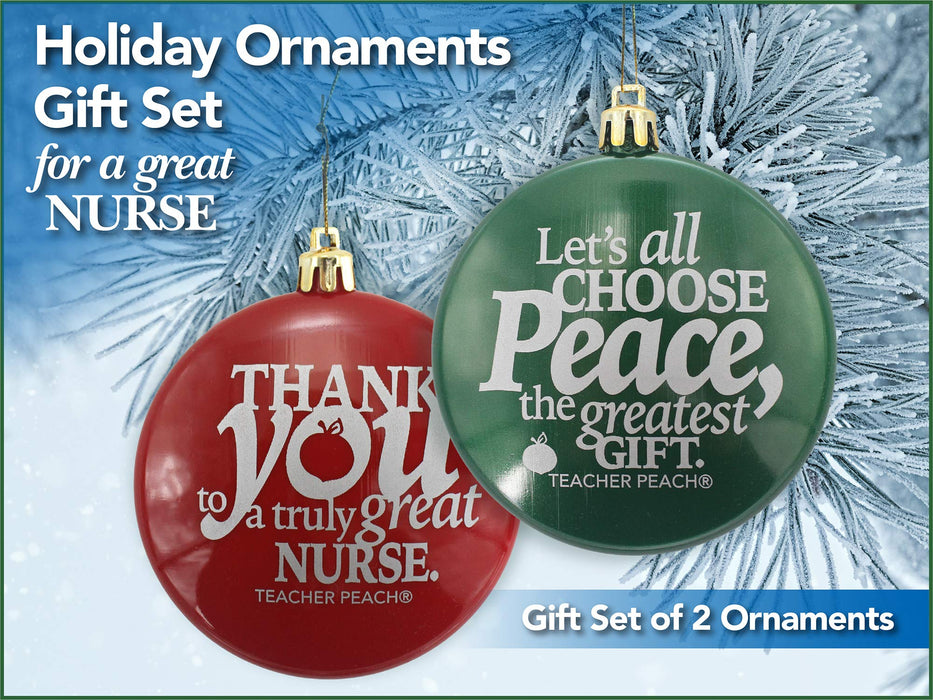 Holiday Ornaments Gift Set Just for Nurses