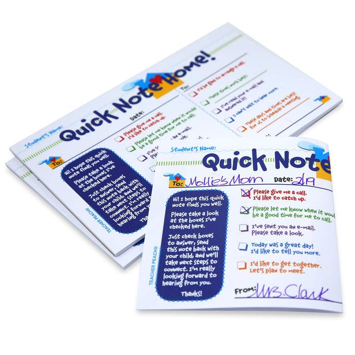 Quick Note Home Teacher Notepad for Classrooms