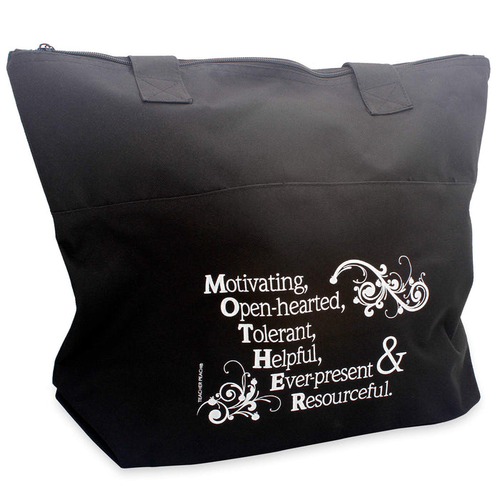 Acrostic Zippered Fabric Tote Bag (Mother)