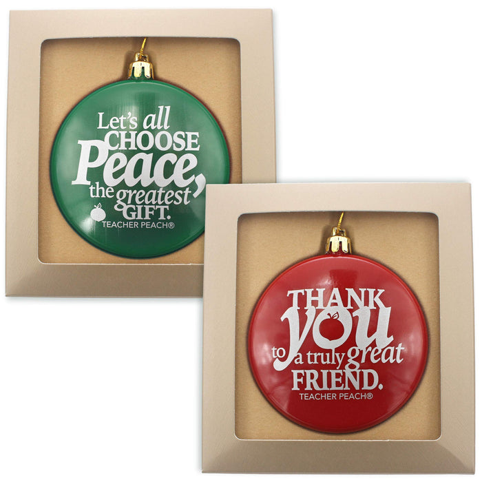 Holiday Ornaments Gift Set Just for Teachers