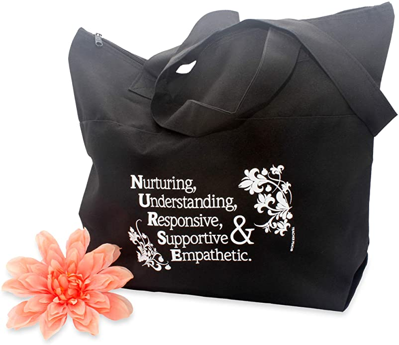 Acrostic Zippered Fabric Tote Bag (Nurse)
