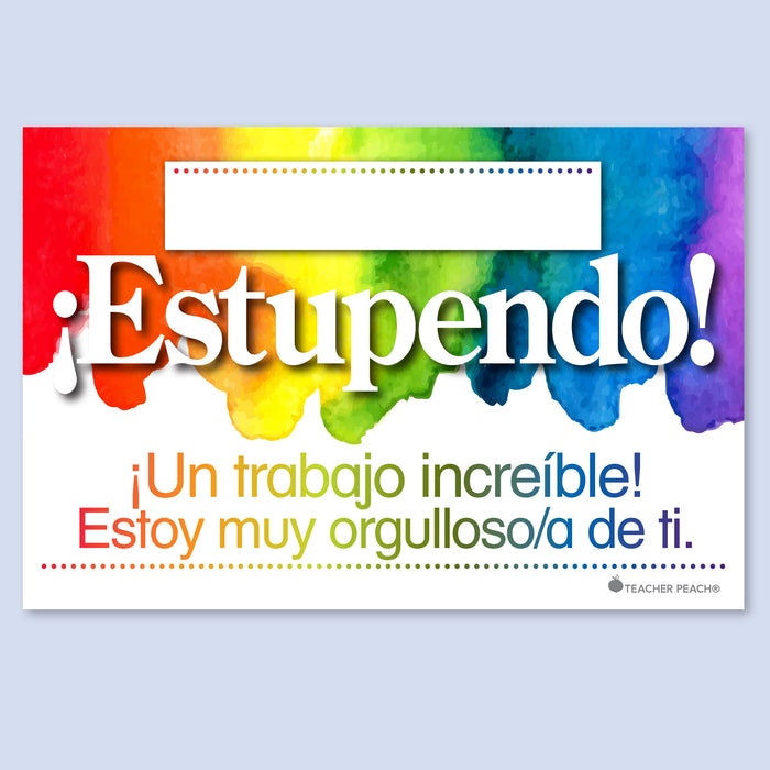 Spanish-English COMBO Positive Postcards (¡Estupendo!-Wow!)