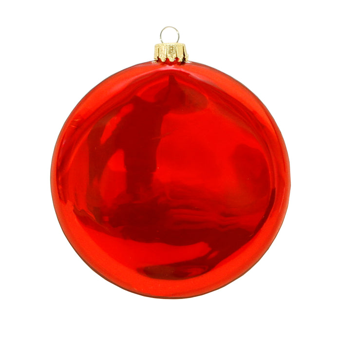 Red back view of glass teacher ornament holiday gift for teachers.