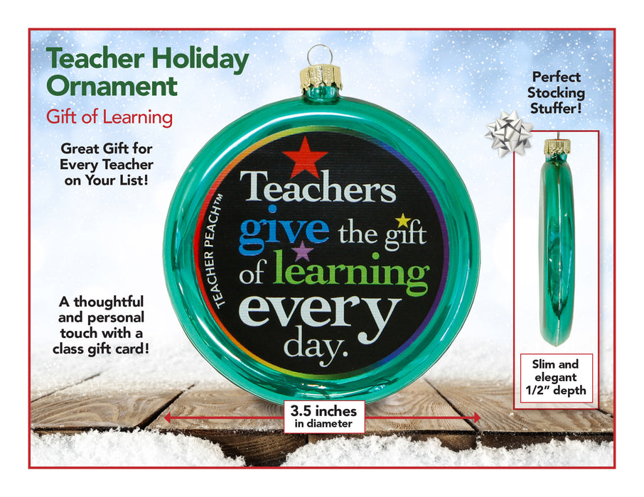 Gift of Learning Holiday Ornament