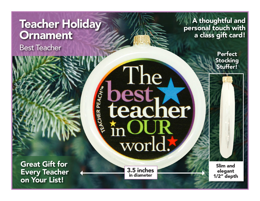 Best Teacher Holiday Ornament