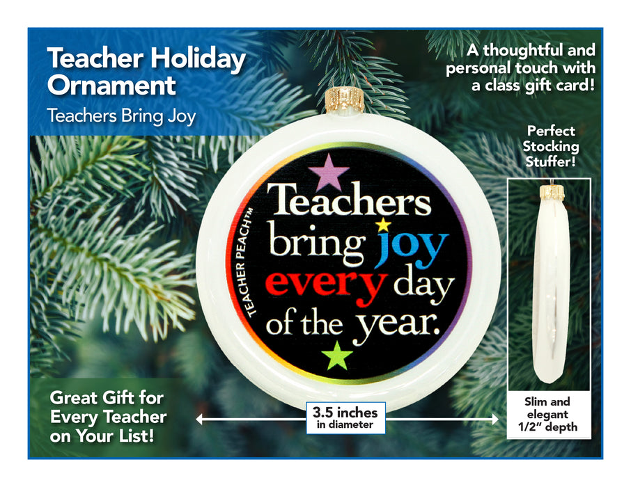 Teachers Bring Joy Holiday Ornament