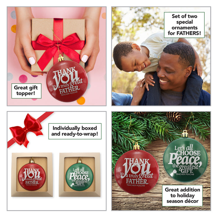 Holiday Ornaments Gift Set Just for Fathers