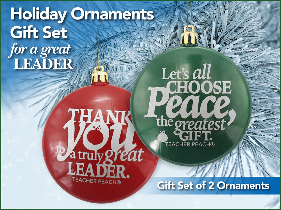 Holiday Ornaments Gift Set Just for Leaders