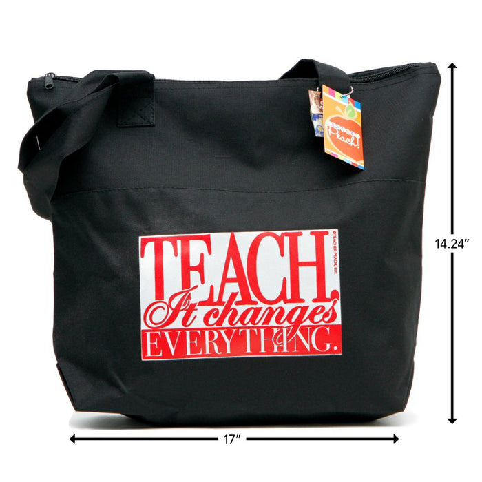 Teacher Peach Teach It Changes Everything Electronics Bag