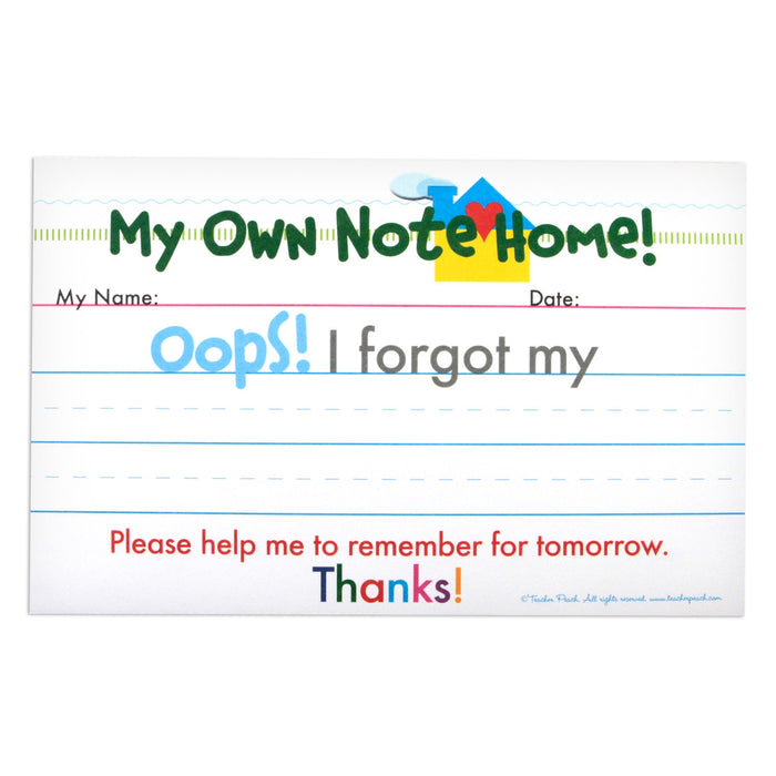 Quick Notes Home Oops Kids Reminder Notepad