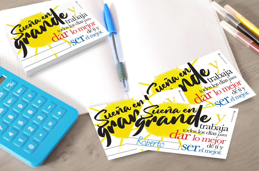 Spanish-English COMBO Positive Postcards (¡Sueña en Grande!-Dream Big!)