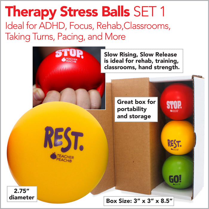 Therapy Stress Balls with Slow Release Gift Sets 1 and 2