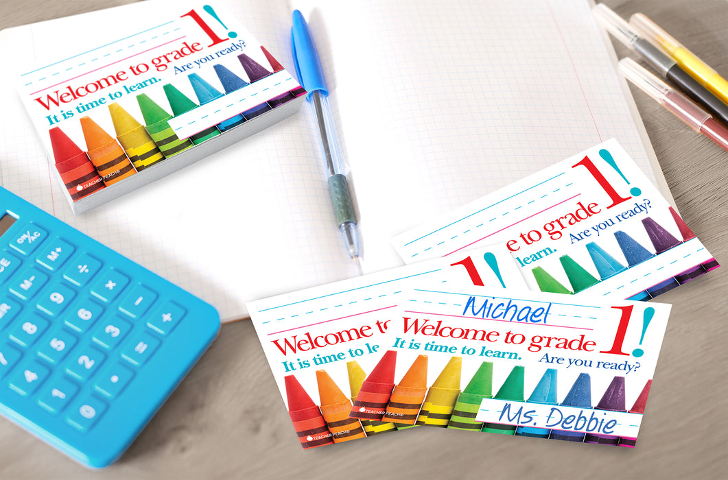 Back-to-School Welcome Positive Postcards (Grade 1)