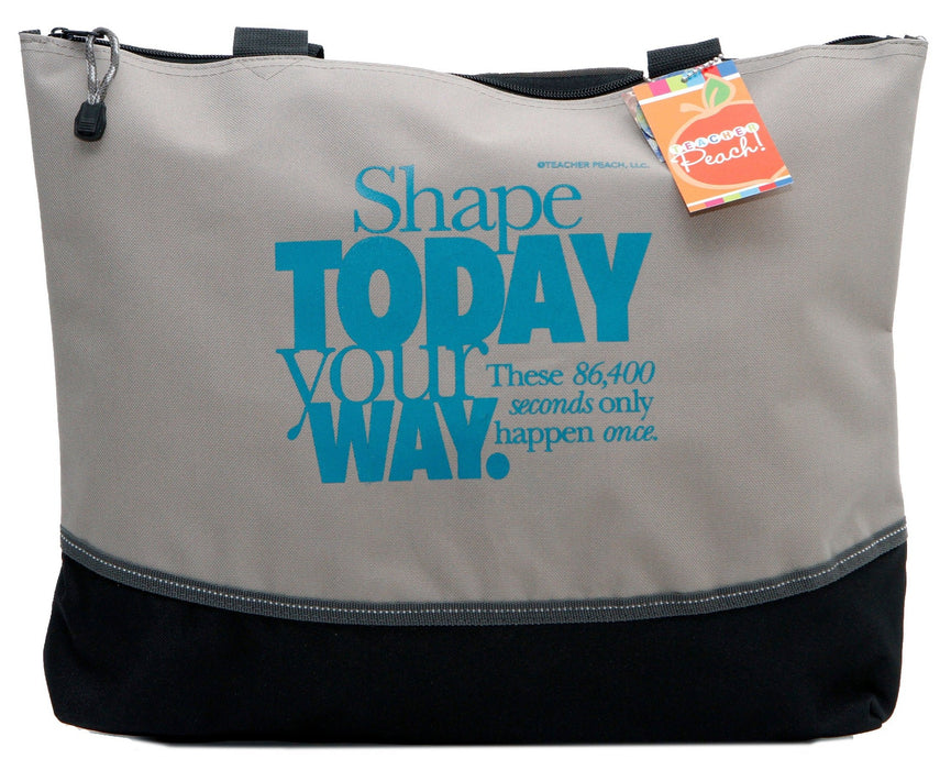 Shape the Day Zippered Tote Bag