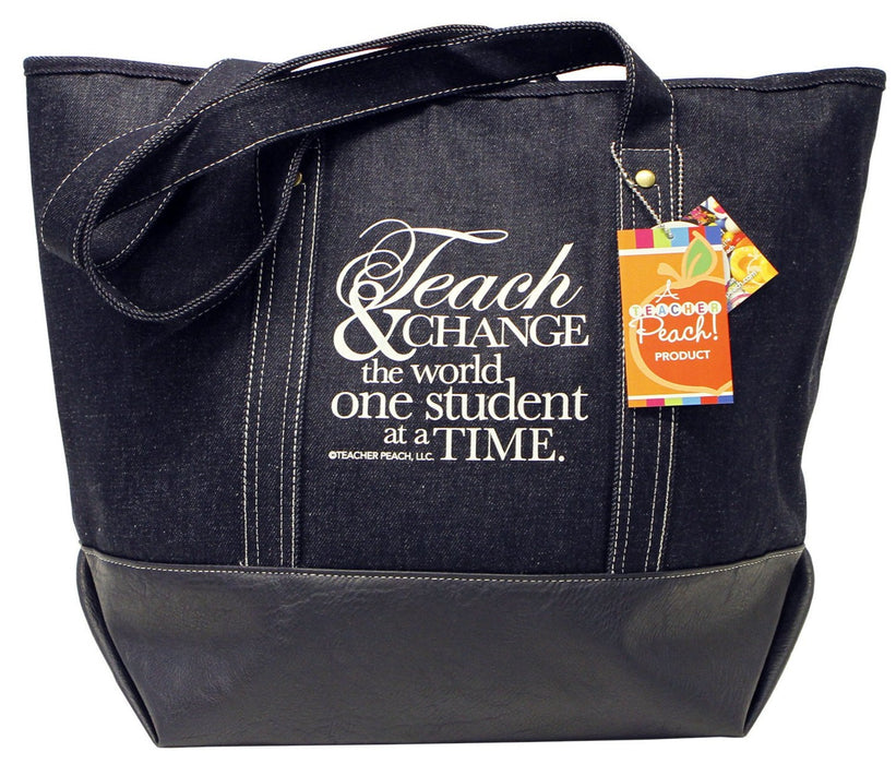 Denim Teacher Gift Tote, Limited Edition