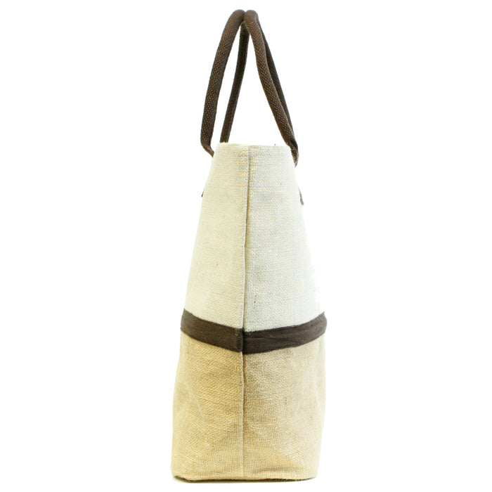 Teacher Gift Tote Natural Jute Bag