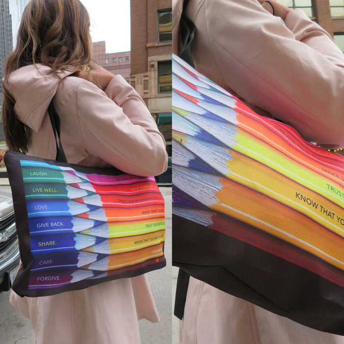 Motivating Colored Pencils Travel Gift Tote