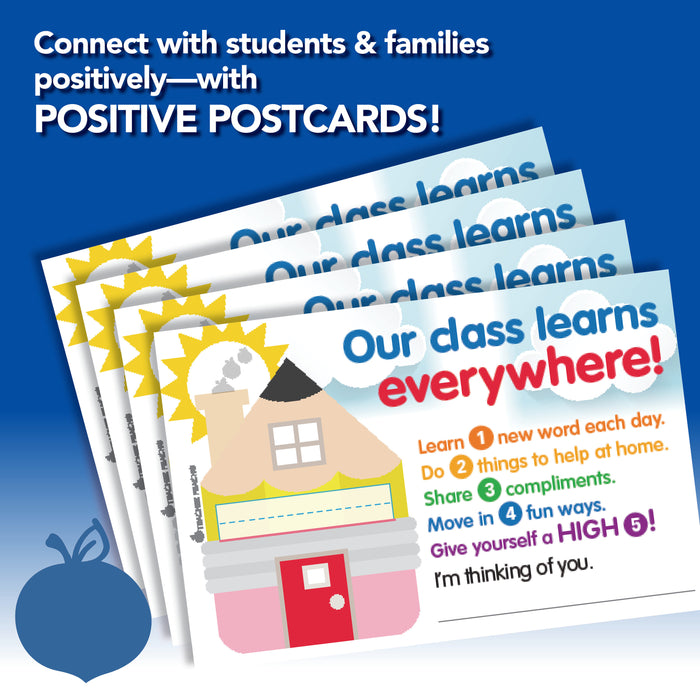 Learn at Home Positive Postcards for Remote Learning