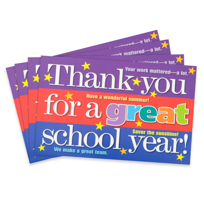 Thank You for a Great School Year Positive Postcards