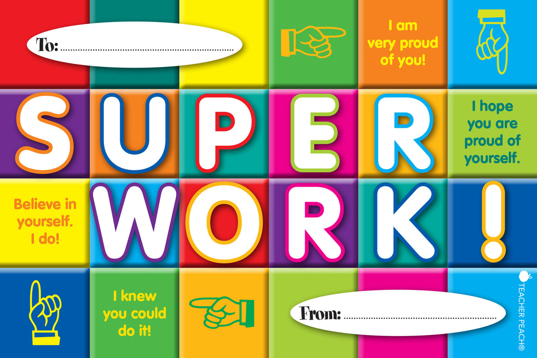SUPER WORK Positive Postcards