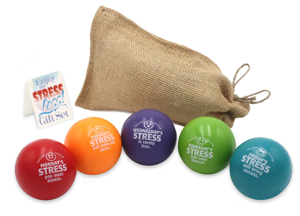 Quarantine Work Week Calendar Stress Reliever Gift Set