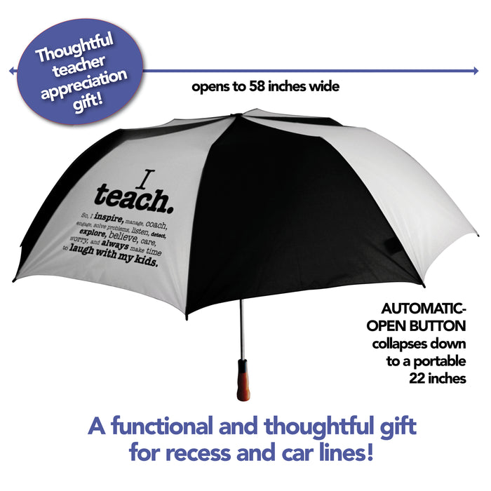 Teacher Appreciation Gift Jumbo Automatic Portable Golf Umbrella