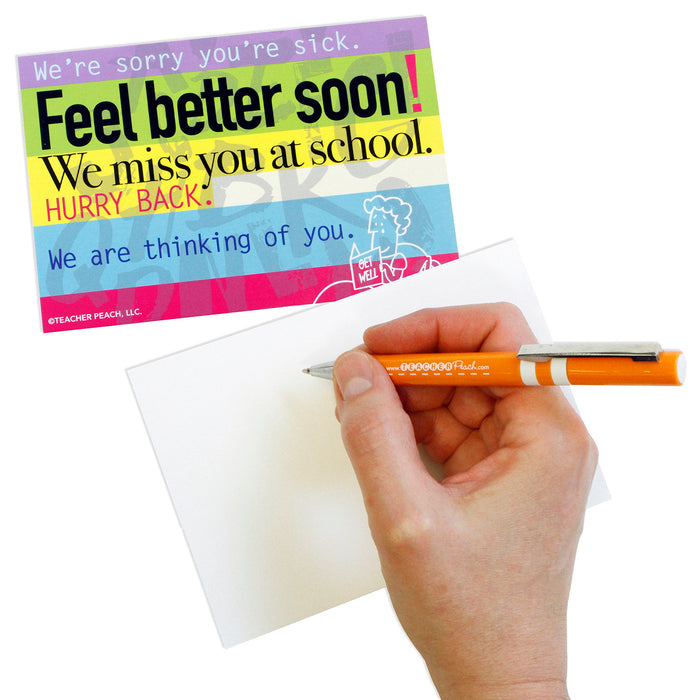 Get Well Positive Postcards from Teachers to Students