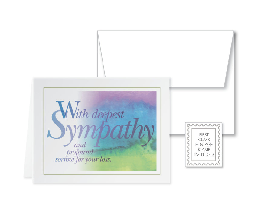 Sympathy Cards Set of 6 with Envelopes & FOREVER POSTAGE