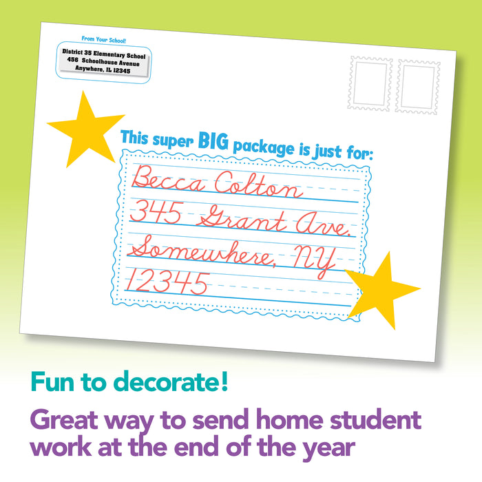Student Mailing Envelopes to Send Work Home Set of 25