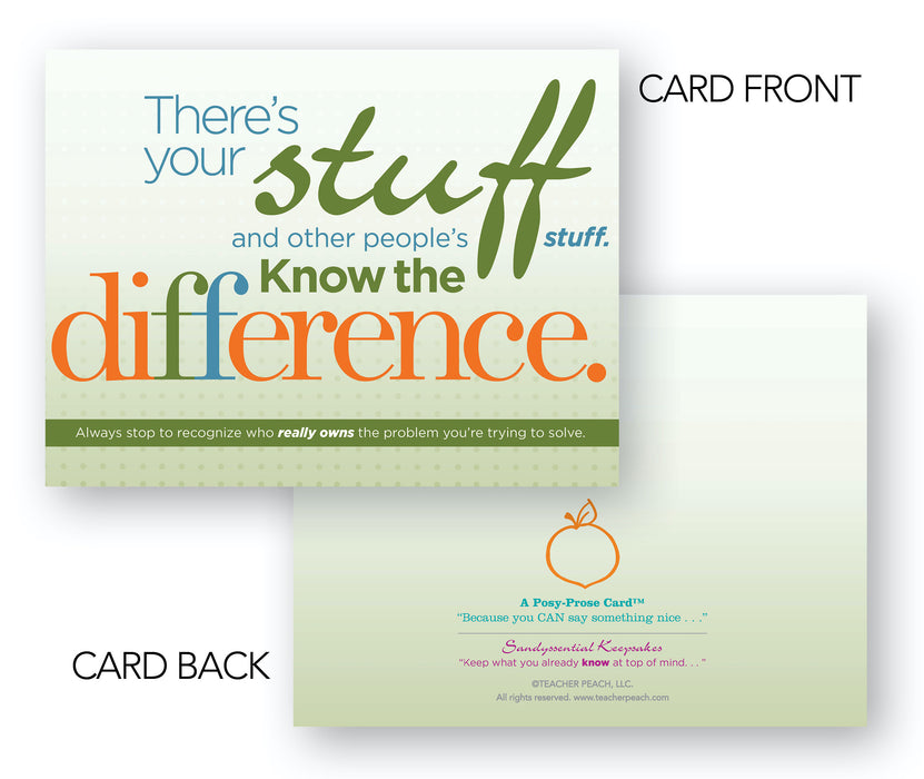Note Cards for Life Lessons Balance Cards Set of 6 with Forever Postage