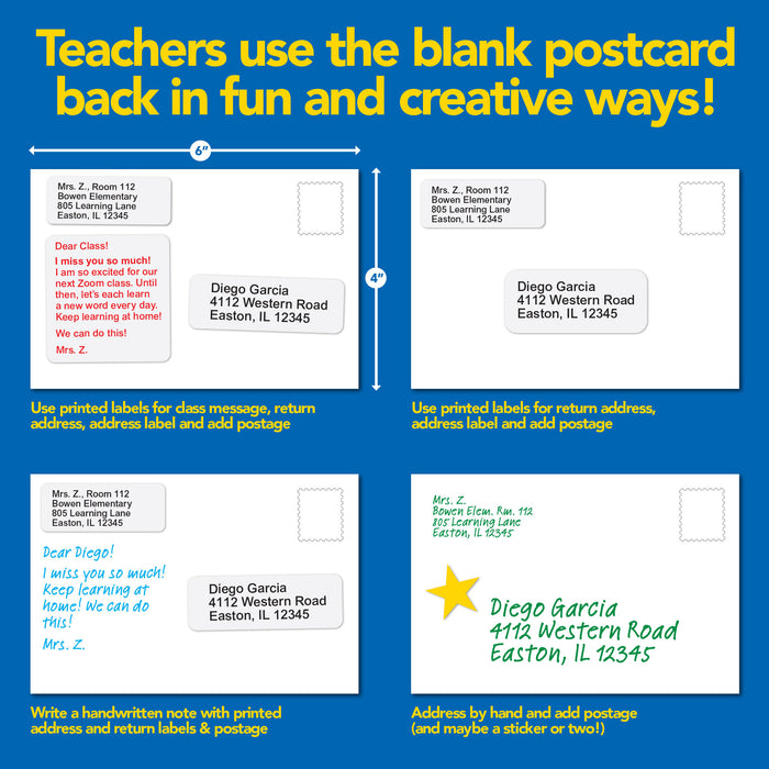 Back-to-School Welcome Positive Postcards (Grade 4)