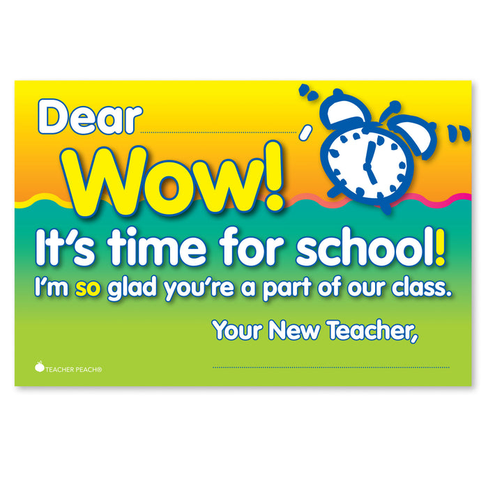 Back-to-School WOW Positive Postcards