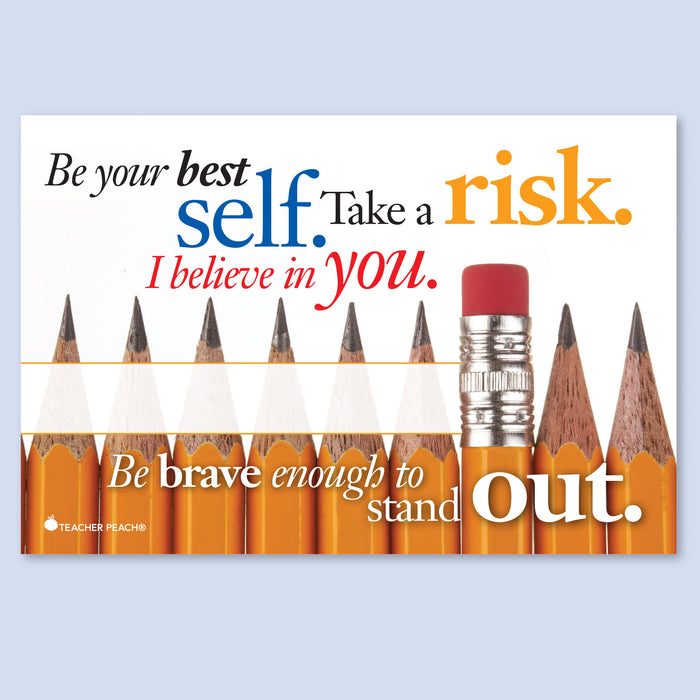 Take a Risk and Stand Out Positive Postcards