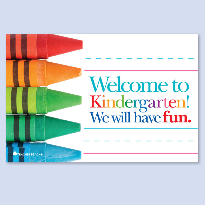 Back-to-School Welcome Positive Postcards (Kindergarten)