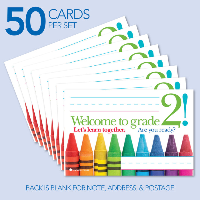 Back-to-School Welcome Positive Postcards (Grade 2)