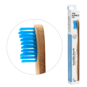 Humble Brush Adult - blue, medium bristles - humble-usa