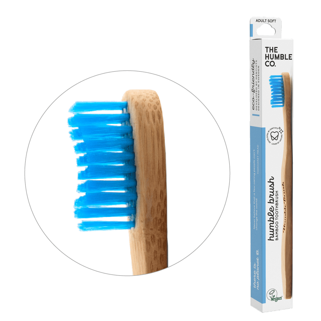 Humble Brush Adult - blue, soft bristles - humble-usa